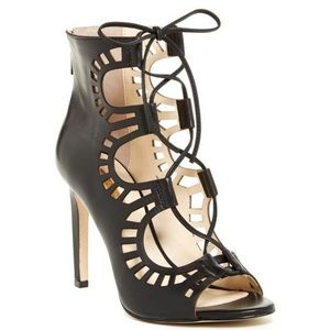 BCBGeneration Black Strappy Heels